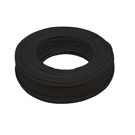 CABLE MANGUERA PLANA 2X0,75 NEGRO 0900035-N